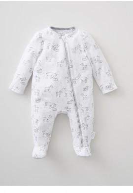 Комбинезон для новорожденного из трикотажа на молнии SC010