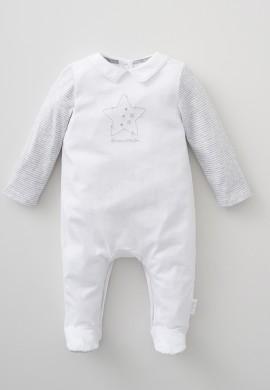 Комбинезон для новорожденного из трикотажа с воротничком SC011