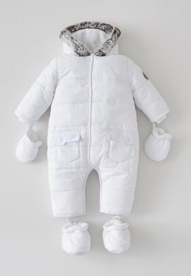 Детский белый комбинезон SC001