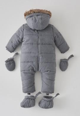 Детский премиальный серый комбинезон SC004