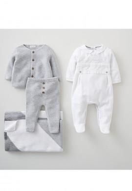 Роскошный подарочный набор для новорожденного 4в1 (0-3 месяцев) SC0035