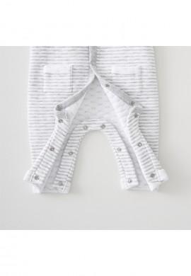 Комплект - трикотажный комбинезон и слюнявчик для новорожденного SC012