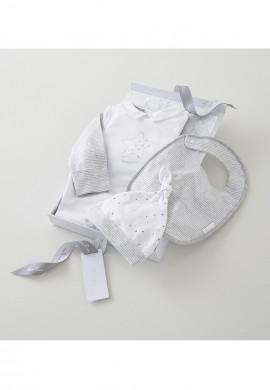 Подарунковий набір з джерсі для новонародженого 3в1 (0-3 місяців). SC033