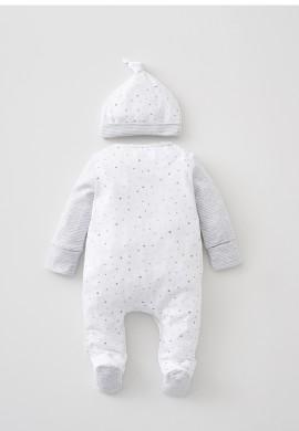 Комплект - трикотажний комбінезон та шапочка для новонародженого SC014