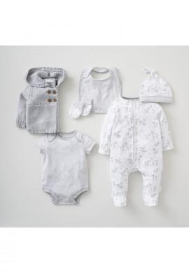 Подарунковий набір для новонародженого 6в1 (0-3місяців). SC0034
