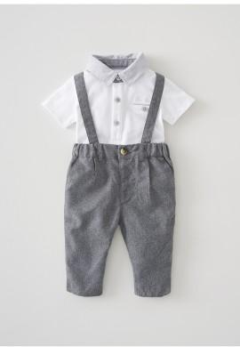 Комплект для новонародженого – сорочка-поло та брюки SC0026